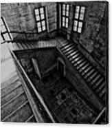 Stairs Black And White Canvas Print