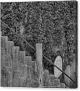 Stairs In Black And White Canvas Print