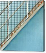Stairs On Blue Wall Canvas Print
