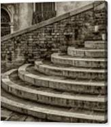 Stairs To Canal Bridge Venice_dsc1637_03012017  Canvas Print