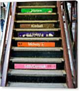 Stairs To The Chicago L Canvas Print