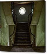Stairs Toward The Attic - Abandoned House Canvas Print