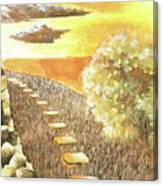 Stairs Towards The Horizon Canvas Print