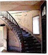 Stairway -  Meade Hotel - Bannack Mt Canvas Print