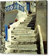 Stairway In Santorini Canvas Print