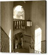 Stairway - In Sepia Canvas Print