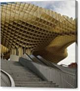 Stairway Leading Up To Metropol Parasol In The Plaza Of The Inca Canvas Print