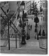 Stairway On Montmartre Canvas Print