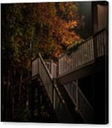 Stairway To Autumn Leaves Canvas Print