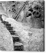 Stairways To The Kiva Canvas Print