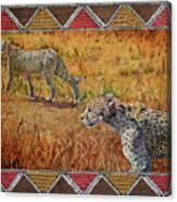 Stalking Cheetahs Canvas Print