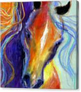 Stallion Horse Painting Canvas Print