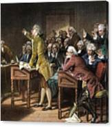 Stamp Act: Patrick Henry Canvas Print