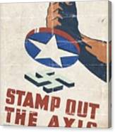 Stamp Out The Axis - Folded Canvas Print