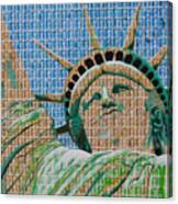 Stampue Of Liberty Canvas Print