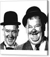 Stan And Ollie - Parallel Hatching Canvas Print