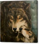 Stand By Me - Wolves Canvas Print