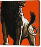 Stand Firm Lion - Ww2 Canvas Print