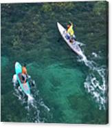 Stand Up Paddlers II Canvas Print