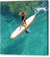 Stand Up Paddling II Canvas Print