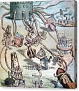 Standard Oil Cartoon Canvas Print