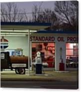 Standard Oil Museum After Dark 18 Canvas Print