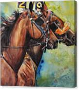 Standardbred Trotter Pacer Painting Canvas Print