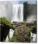 Standing Below Bridal Veil Falls Canvas Print
