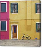 Standing By For A Quick Get Away In Burano Italy Canvas Print