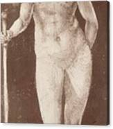 Standing Female Nude With Baton In The Right Canvas Print