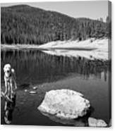 Standing In Comanche Reservoir Canvas Print
