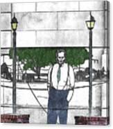 Standing On A Corner In Asheville Carolina Canvas Print