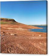 Standing On The Lakebed Canvas Print