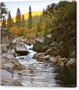 Stanislaus Fall Sunset Looking East Canvas Print