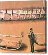 Stanleys Portable Boat Canvas Print
