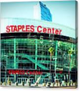 Staples Center Color Canvas Print