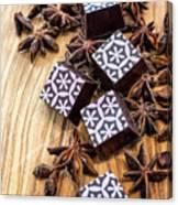 Star Anise Chocolate Canvas Print