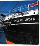 Star Of India Tall Ship San Diego Bay Canvas Print