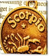 Star Sign In Scorpio Canvas Print