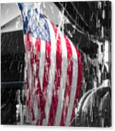 Star Spangled Splash  Canvas Print
