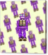 Star Strider Robot Purple Pattern Canvas Print