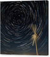 Star Trail In Hays, Ks Canvas Print