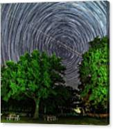 Star Trails At Sunken Meadow State Park Canvas Print
