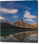 Star Trails Behind Mount Chephren Canvas Print