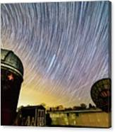 Star Trails Over Custer Observatory Canvas Print