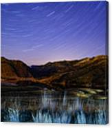 Star Trails Over Hauser Canvas Print