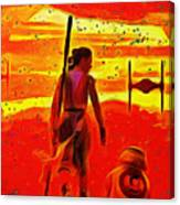 Star Wars 8 Last Jedi - Pa Canvas Print