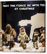 Star Wars Christmas Card Canvas Print