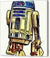 Star Wars R2d2 Droid - Da Canvas Print