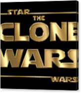 Star Wars The Clone Wars Typography Canvas Print